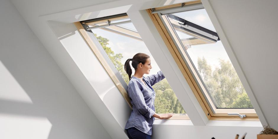 Vrij uitzicht met een uitzetbaar dakvenster